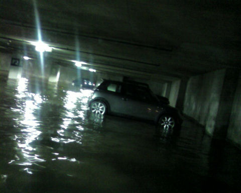 quick pic of the flooded garage with my camera phone